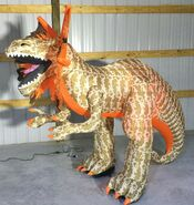 Gemmy Prototype Halloween Inflatable Dilophosaurus Dinosaur