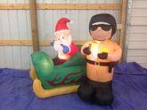 Gemmy inflatable santa getting a ticket