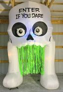 Gemmy Prototype Halloween Inflatable Skeleton Archway