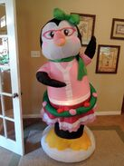 Gemmy inflatable dancing lady penguin