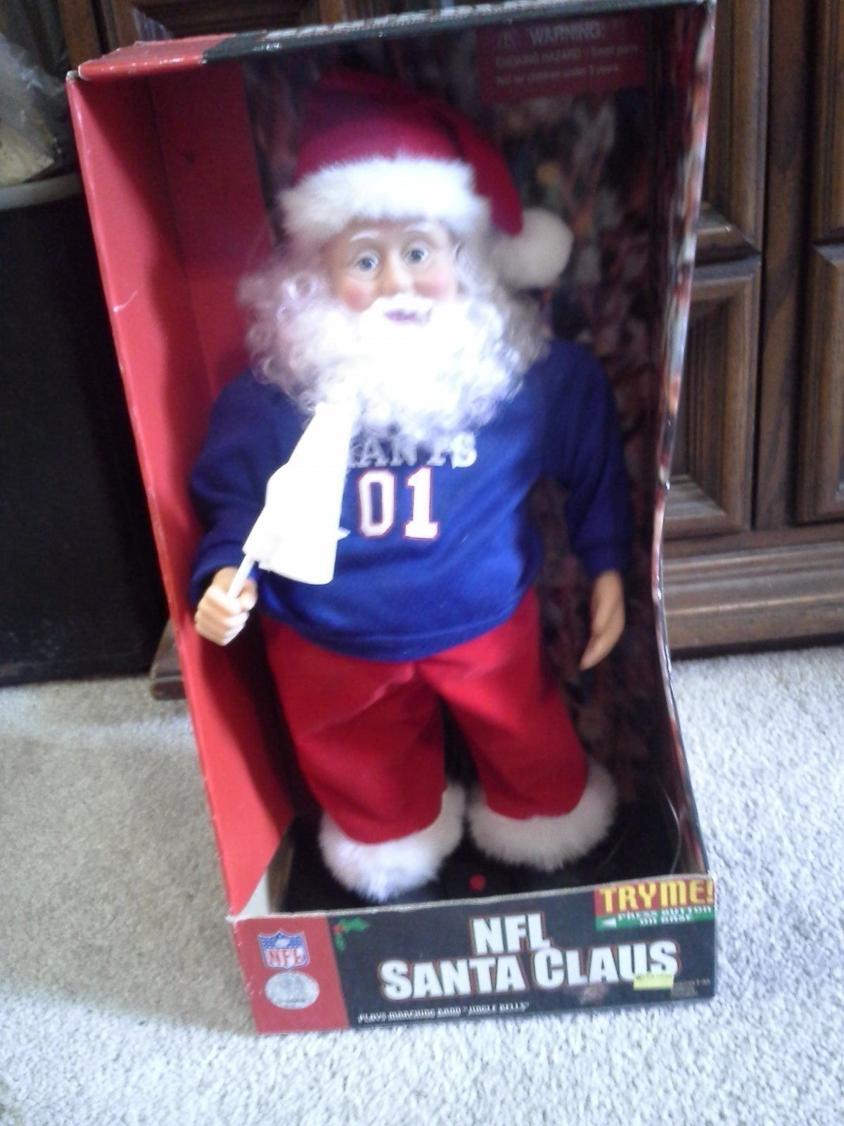 new york giants nfl santa claus animated battery operated football dancingjpg - Nfl On Christmas 2014