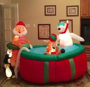 Gemmy Prototype Christmas Pool Inflatable Airblown
