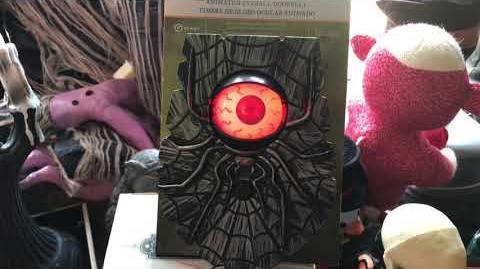 NEW FOR 2018 Gemmy animated eyeball door bell with spider (Cracker Barrel)