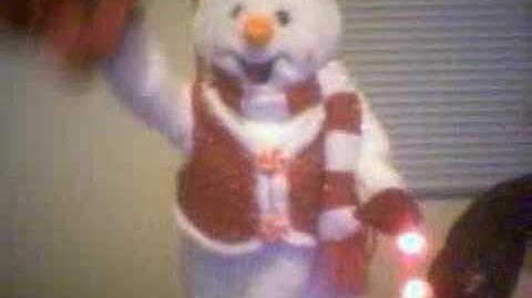 Peppermint Spinning Snowman