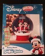 Disney Airblown Inflatable Snow Globe Mickey & Minnie 5