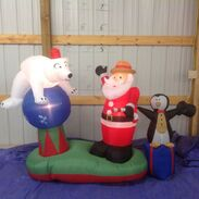 Gemmy inflatable santa's circus act