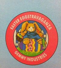 1994 Gemmy 11'' Animated Musical Easter Bunny Panting an Egg 10