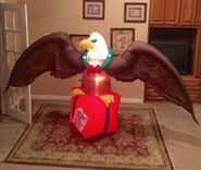 Gemmy Prototype Christmas Eagle Inflatable Airblown