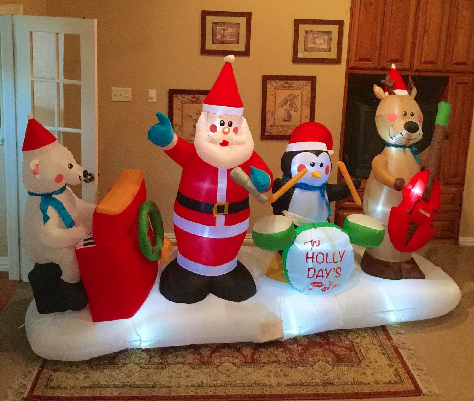 Image - Gemmy Prototype Christmas The Holly Days Band Inflatable ...