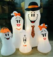 Gemmy Prototype Halloween Inflatable Ghost Family