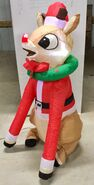 4ft Gemmy Airblown Inflatable Christmas Rudolph w Blinking Nose Prototype