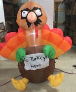 5ft Gemmy Airblown Inflatable Thanksgiving Turkey In Disguise Prototype