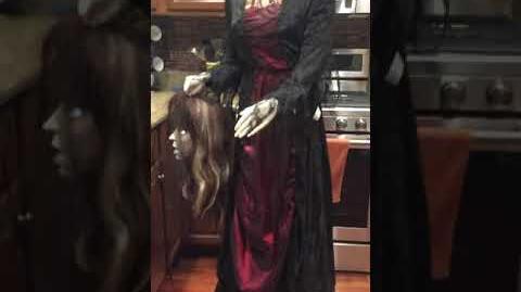 Gothic Beheaded Bride Halloween Prop