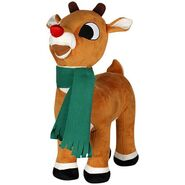 Christmas Greeter-Rudolph w scarf