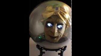 "Gemmy 18"" Animated SPIRIT BALL Fortune Teller Talking Head Halloween Prop Decor-1"