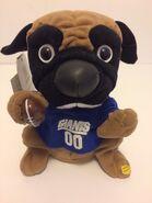 New York Giants Gemmy NFL Football Party Pug Plush Stuffed Dog Singing NY NWT