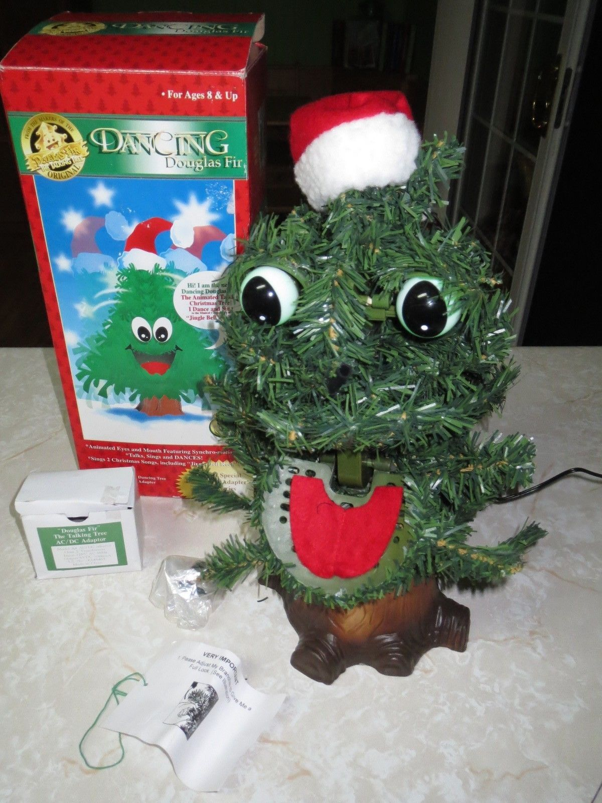 Vintage GEMMY Talking Singing Animated Dancing Douglas Fir Christmas Tree in Box.JPG