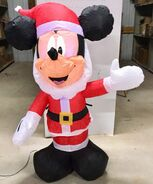 4ft Gemmy Airblown Inflatable Christmas Mickey Mouse As Santa Prototype