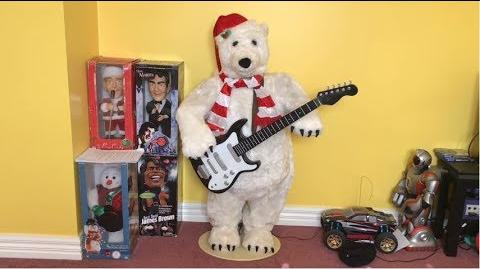 Life size rocking polar bear gemmy wiki fandom powered for Animated polar bear christmas decoration