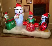 Gemmy Prototype Christmas North Polars Band Inflatable Airblown
