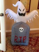 Gemmy Prototype Halloween Ghost Tombstone Inflatable Airblown
