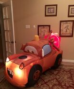 Gemmy Prototype Christmas Cars Tow Mater Inflatable Airblown