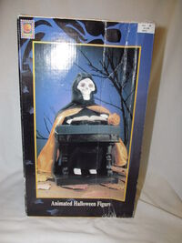 Gemmy animated grim reaper at his organ 1995 2
