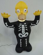 Gemmy inflatable Homer simpson skeleton