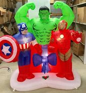 6ft Gemmy Airblown Inflatable Christmas Avengers Assemble Scene Prototype