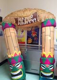 Gemmy 9ft Tiki Archway Airblown Inflatable RARE
