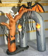 Gemmy Prototype Halloween Inflatable Archway