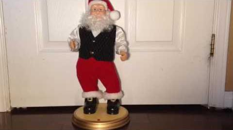 Gemmy swinging santa Canadian exclusive (Rare)-0