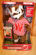 Gemmy 2001 wisconsin badger animated mascot