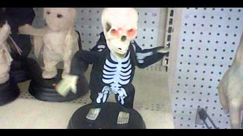 Gemmy grave ravers skeleton 2012