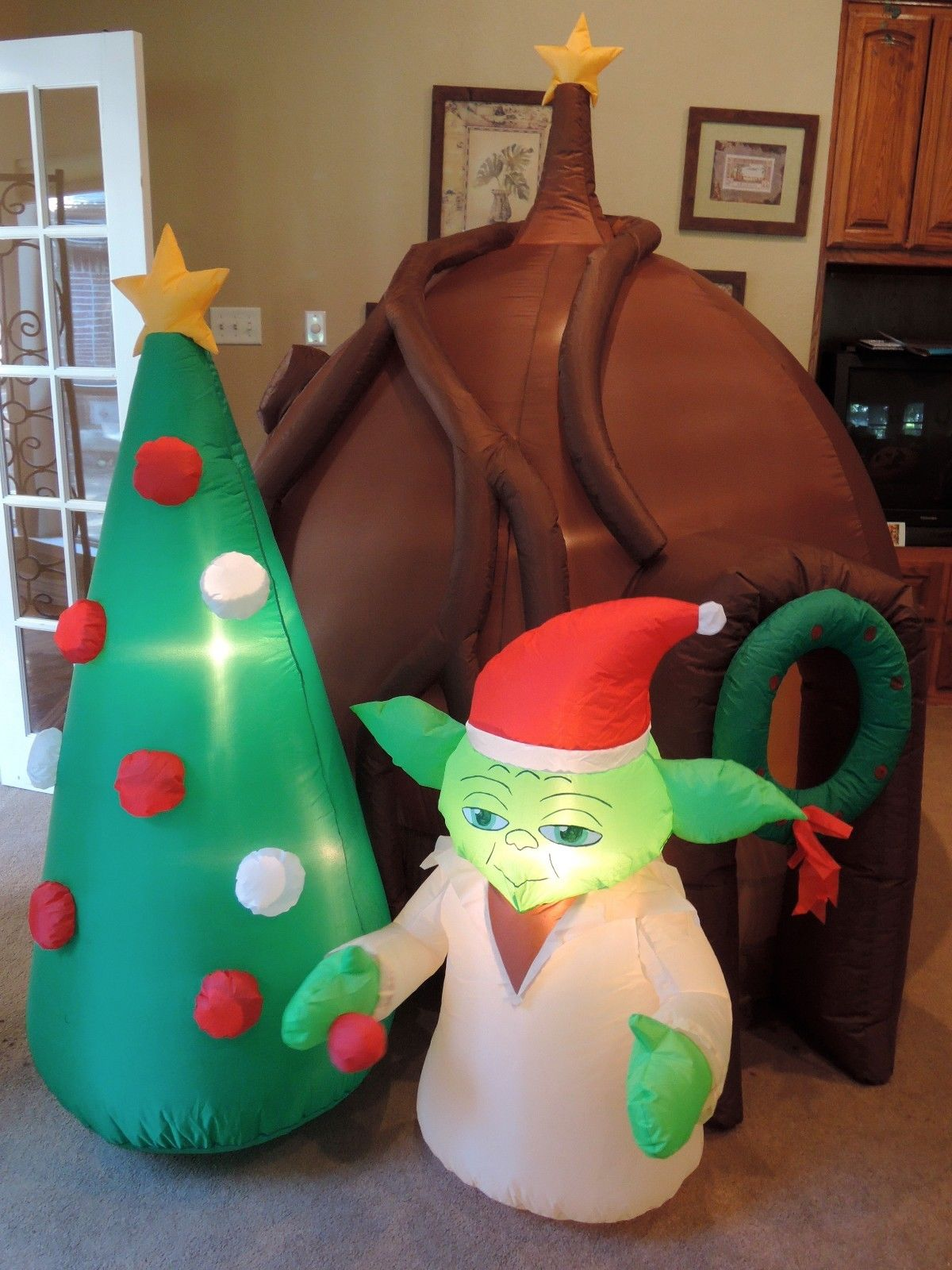 gemmy inflatable star wars christmas scenejpg - Star Wars Blow Up Christmas Decorations