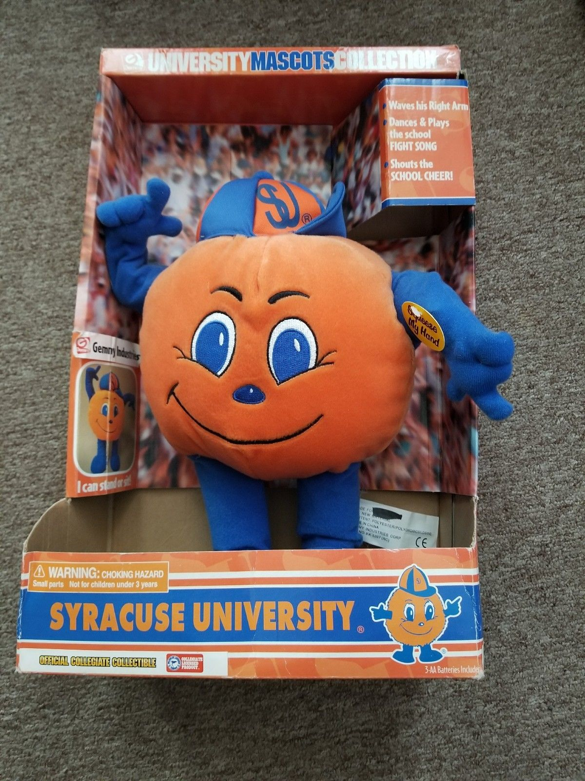 Image - Syracuse University Orange Mascot Plush NIB NCAA jpg | Gemmy