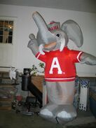 ALABAMA CRIMSON TIDE BIG AL 8 FT INFATABLE