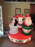 Gemmy inflatable Christmas whirly cups