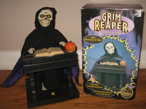 Grim reaper playing organ