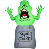 Gemmy 2016 inflatable-Slimer on tomb