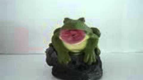 Gemmy singing frog on rock