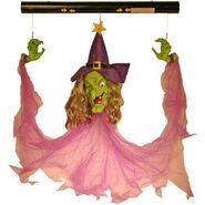 Motion Activated Floating Witch with Sound and Light-Up Eyes