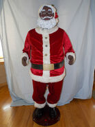 GEMMY CHRISTMAS 5' LIFE SIZE SINGING DANCING AFRICAN AMERICAN SANTA CLAUS BLACK