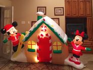 Gemmy Prototype Christmas Mickey and Minnie Mouse Gingerbread House Inflatable Airblown
