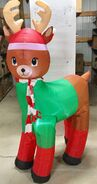 6ft Gemmy Airblown Inflatable Christmas Reindeer Prototype