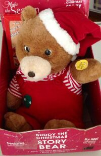 Gemmy RARE animated buddy the christmas story bear in box