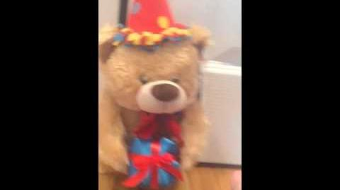 Gemmy Sidestepper Birthday Bear