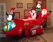 Gemmy Prototype Christmas Tractor Inflatable Airblown