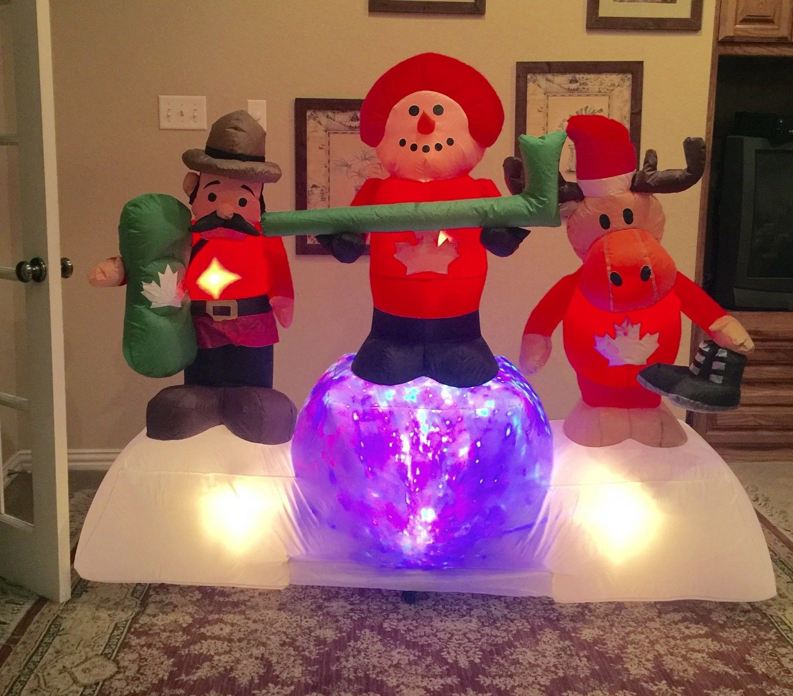 Image - Gemmy Christmas Prototype Canadian Scene Inflatable ...