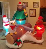 Gemmy Prototype Christmas Scene Inflatable Airblown